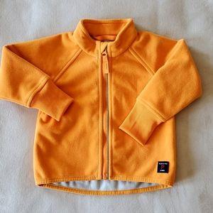 Polarn O. Pvret Orange Zippered Sweater 6-9M